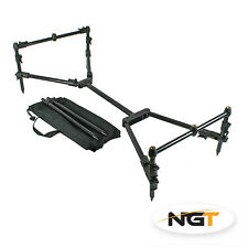 NGT Nomadic 3 Rod Pod Carp Fishing  Adjustable Compact Black Pod + Case NGT*