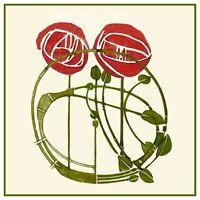 2 Roses Art Nouveau Charles R Mackintosh Counted Cross Stitch Chart Pattern