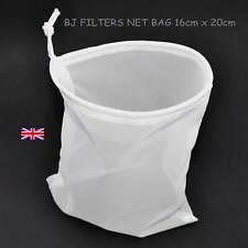 ONE STRAINING BAG MESH NET WINE & BEER FINE MULTI-PURPOSE 16cm X 20cm. £3.25 F/P