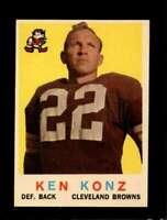 1959 TOPPS #54 KEN KONZ EXMT BROWNS *SBA4848