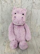 Jellycat Bashful Hippo Soft Plush Stuffed Animal Toy Purple Lilac Floppy A