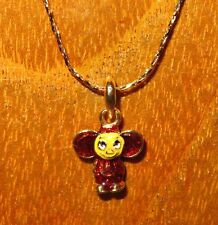 Genuine Russian Necklace ENAMEL no EGG CHEBURASHKA Topple golden pendant