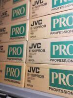 Lotto N° 10 JVC VHS VIDEOCASSETTE VERGINE Pro 180 Pro /120 pro / 240 EHG