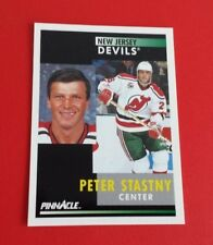 1991/92 Pinnacle Hockey Peter Stastny Card #393***New Jersey Devils***