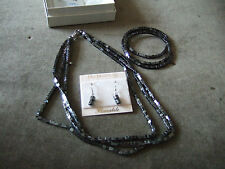 FAB BN HEMATITE NECKLACE, BRACELET EARRINGS BY PAN PACIFIC (CANADA) **REDUCED**