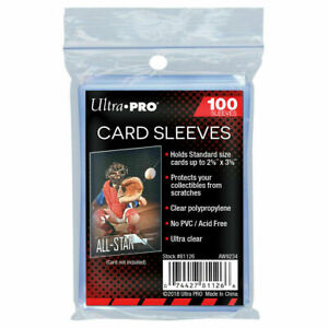 "100 ULTR PRO STANDARD PENNY SLEEVES 2 5/8"" x 3 5/8"" NO PVC ACID FREE - FREE SHIP"