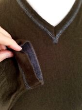 "Kenzo Homme Khaki Green 100% Merino Wool Jumper UK Size 42"" L Made In Italy"