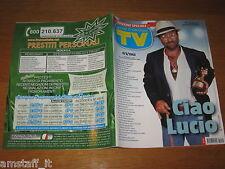 TV SORRISI E CANZONI=2012/11=CIAO LUCIO DALLA=BRUCE SPRINGSTEEN=CRISTINA PARODI=