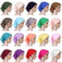 Muslim Women Inner Hijab Caps Islamic Headwear Underscarf Hats Chemo Arab Bonnet