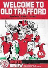 Football Programme>MAN UTD v ARSENAL Oct 1975