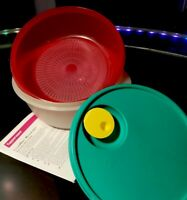 TUPPERWARE NEW VINTAGE #2641 Crystalwave Microwave Cooker & Steamer Tray