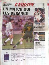L'Equipe Journal 8/11/2001; France-Australie/ Tony Marsh/ le Phénomène Parker