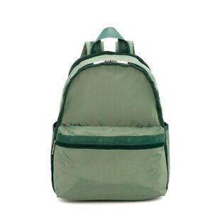 LeSportsac Heritage Mallard Basic Backpack/Rucksack, Avocado Green, Pearlized