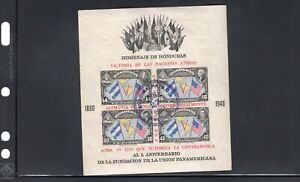 Honduras stamps, 1945, Anniversary of PanAm Union, cancelled 1963 (OTH027)