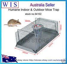 Humane Multi Catch Live Mouse Mice Trap Galvanized Mesh Wire Indoor&Outdoor94102