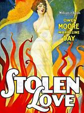 MOVIE FILM STOLEN LOVE MOORE DAY SILENT DRAMA ROMANCE USA POSTER PRINT BB6711B