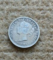 1886 CANADA 5 Cents silver coin