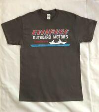 Evinrude Vintage Style Retro Nautical Outboard Motor Advertising Shirt Dark Gray