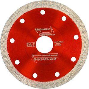 Disco diamantato per taglio piastrelle e gres porcellanato 115 mm x 22,23 mm