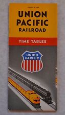 Vtg Train Times Table Railway Schedule Union Pacific January 16 1949