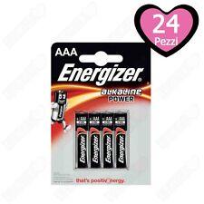 24 Batterie Pile Energizer Alcaline MiniStilo AAA