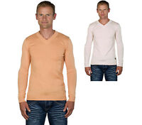 Ugholin Pull Homme Col V Maille Fine Manches Longues