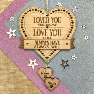 Personalised Engagement Anniversary Birthday Gift Love You Rhyme Plaque Present
