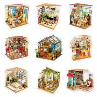 ROBOTIME Miniatur Puppenhaus Kit DIY Holz Häuser Modell für Erwachsene 1:24