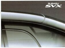 Subaru SVX 3.3 Coupe 1992-96 UK Market Sales Brochure