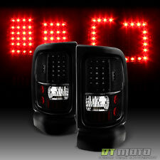 Blk 1994-2001 Dodge Ram 1500 2500 3500 G2 LED Tail Lights Brake Lamps Left+Right