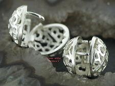 Ohrringe KLAPPCREOLEN Silber 925 Ohrschmuck Große klappscharnier Creolen KUGEL