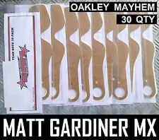 30 Qté Larme Détachables pour Oakley Mayhem Motocross Enduro Lunettes Palmes