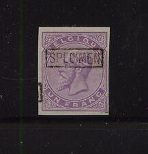 Belgium    essay  specimen  1  franc  stamp    Mint        APL0923