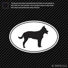Beauceron Euro Oval Sticker Die Cut Decal Self Adhesive Vinyl dog canine pet