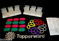 Tupperware ~12 Ice Tups / Popsicle makers ~COLORS!  Pink Purple Green Yellow Red