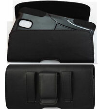 XL LEATHER BELT CLIP HOLSTER FOR SAMSUNG GALAXY NOTE 5 FITS HYBRID CASE ON PHONE