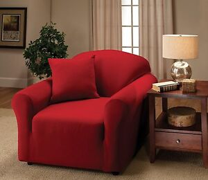 JERSEY PURPLE CHAIR SLIPCOVER  ALSO IN SOFA LOVESEAT RECLINER SIZES-A GREAT ITEM