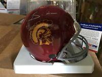 Keith Rivers USC Autographed Mini-Helmet Bengals Giants PSA/DNA