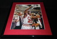 Michael Jordan w/ Trophy Framed 11x14 Photo Display Bulls