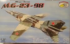NUEVO MiG-23-98, 1:72,R.V. Aircraft , Modelo plástico kit , muchos Adhesivos