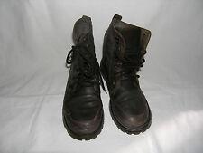 Bata n. 42 stivaletti scarponcini uomo in pelle marrone con lacci e fibbia