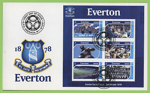 Grenada 2001 Everton Football Club m/s on First Day Cover