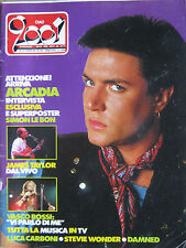 CIAO 2001 42 1985 Simon Le Bon Vasco Rossi Stevie Wonder James Taylor Damned