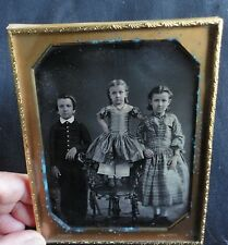 Beautiful Half Plate Daguerreotype Children Iron Chair by Faris Cincinnati OH