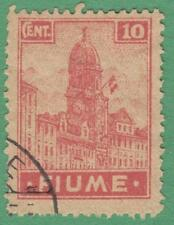 Fiume #30a used 10c 1919 cv $16
