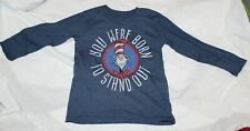New Dr Seuss Cat in the Hat Long Sleeve Shirt Size 4 Born to Stand Out