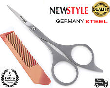 "Proffesional Beauty Moustache Scissors Grooming Beard Facial Hair Eyebrows 5""FRE"