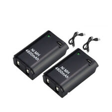 2x 4800mAh Battery Pack + Cable for Xbox 360 Wireless Rechargeable Controller