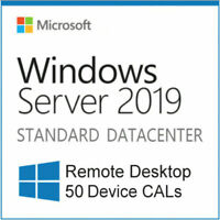 WINDOWS Server 2019 standarD RDS 50 DEVICE CALS Remote Desktop Service