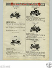 1925 PAPER AD Toy Pedal Car Star Essex Overland Hupp Jewett Stutz Hudson Buick